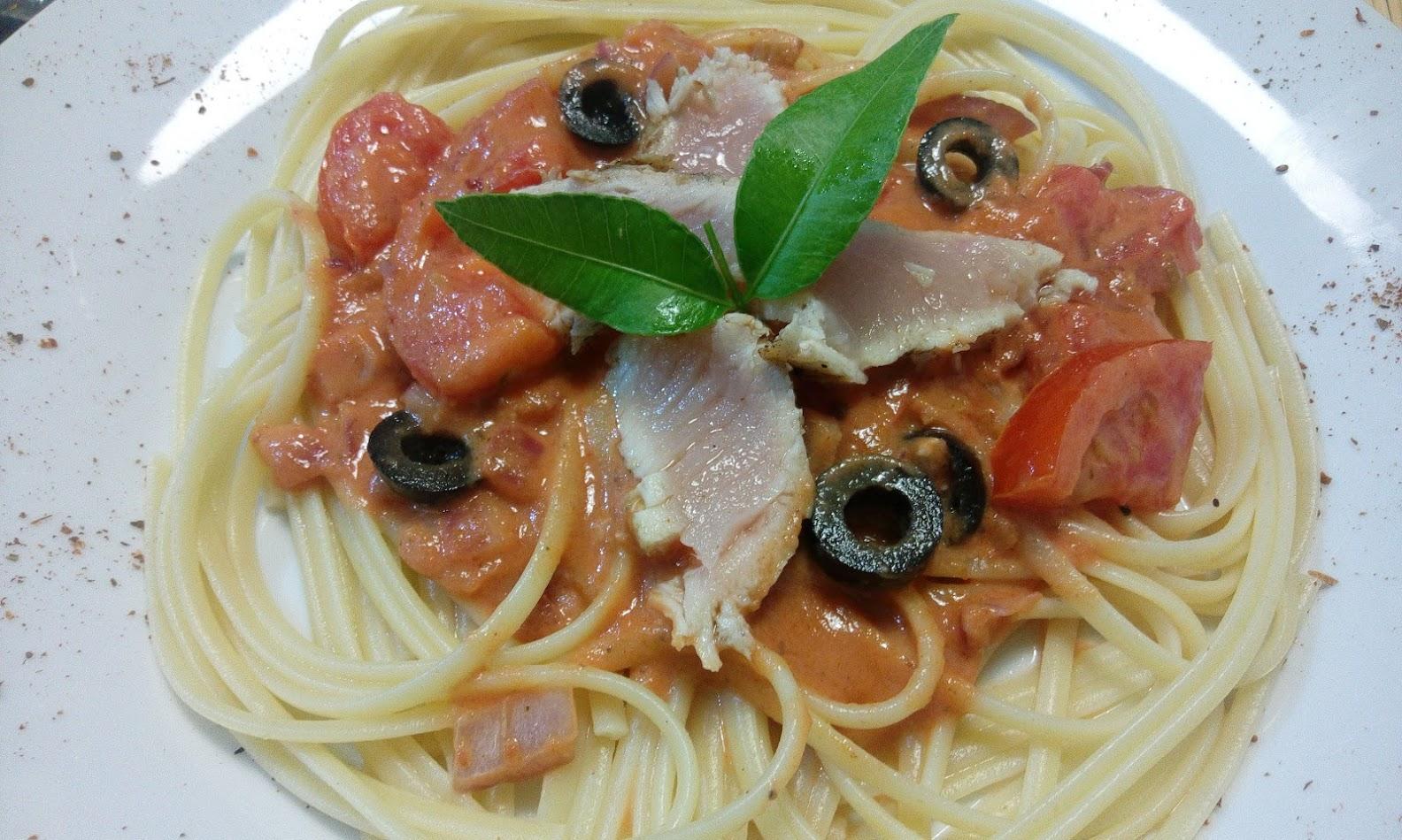 recette spaghetti au thon mi cuit tomate et lait de coco. Black Bedroom Furniture Sets. Home Design Ideas
