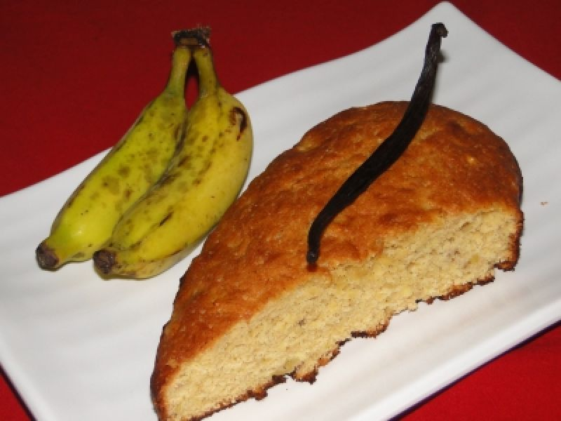Gateau banane à la vanille de tahiti