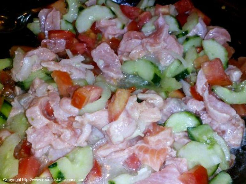 Salade de saumon cru