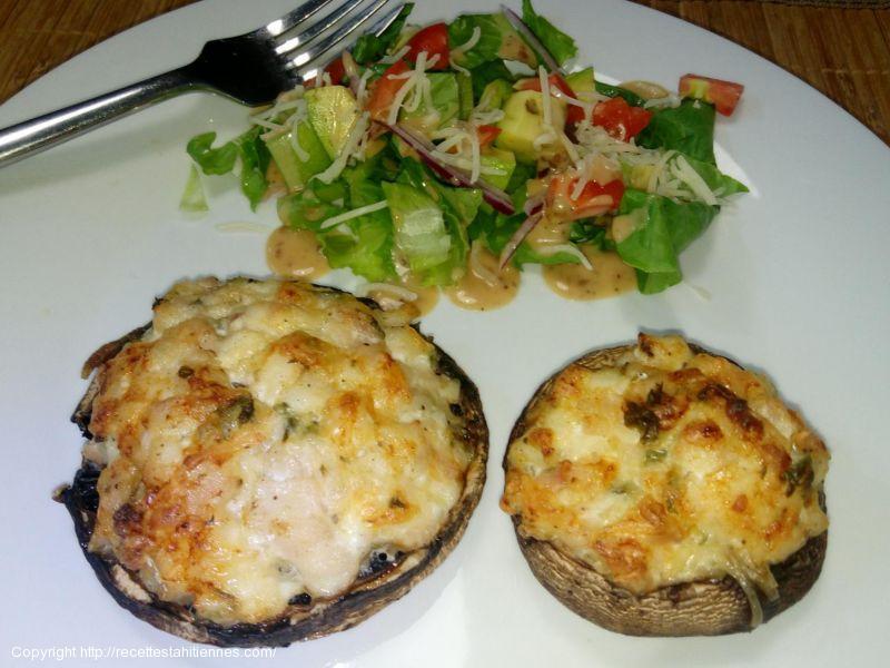 Champignons Portobellos farcis au Bec de canne et parmesan