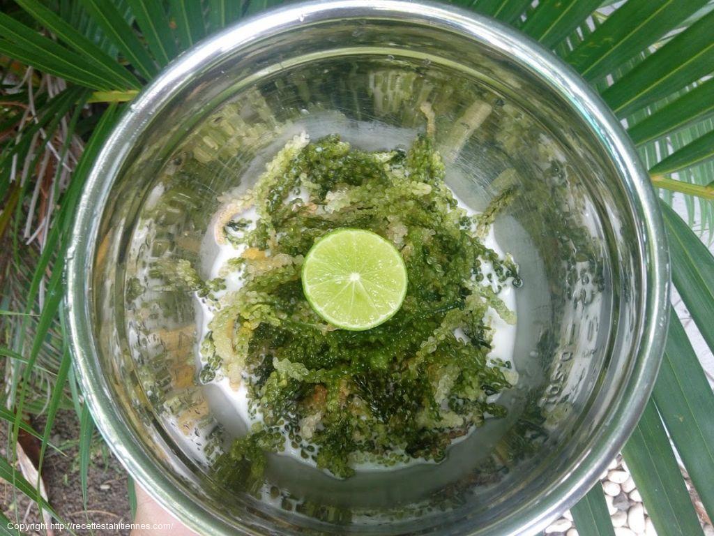 Remu vine green caviar au lait de coco et citron