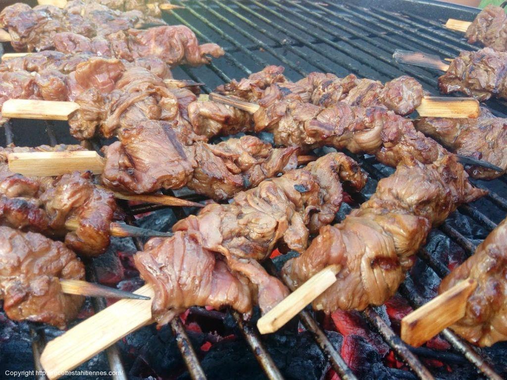 brochettes de boeuf marinées à la sauce teriyaki